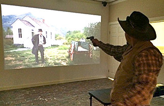 Select a six-shooter to draw like gunfighters of the old west.